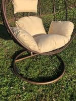 Brown XL Patio Hanging Chair